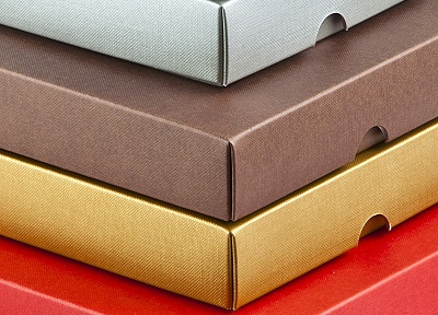 Ideal gift box set boxes with a premium embossed finish available in a range of colours
