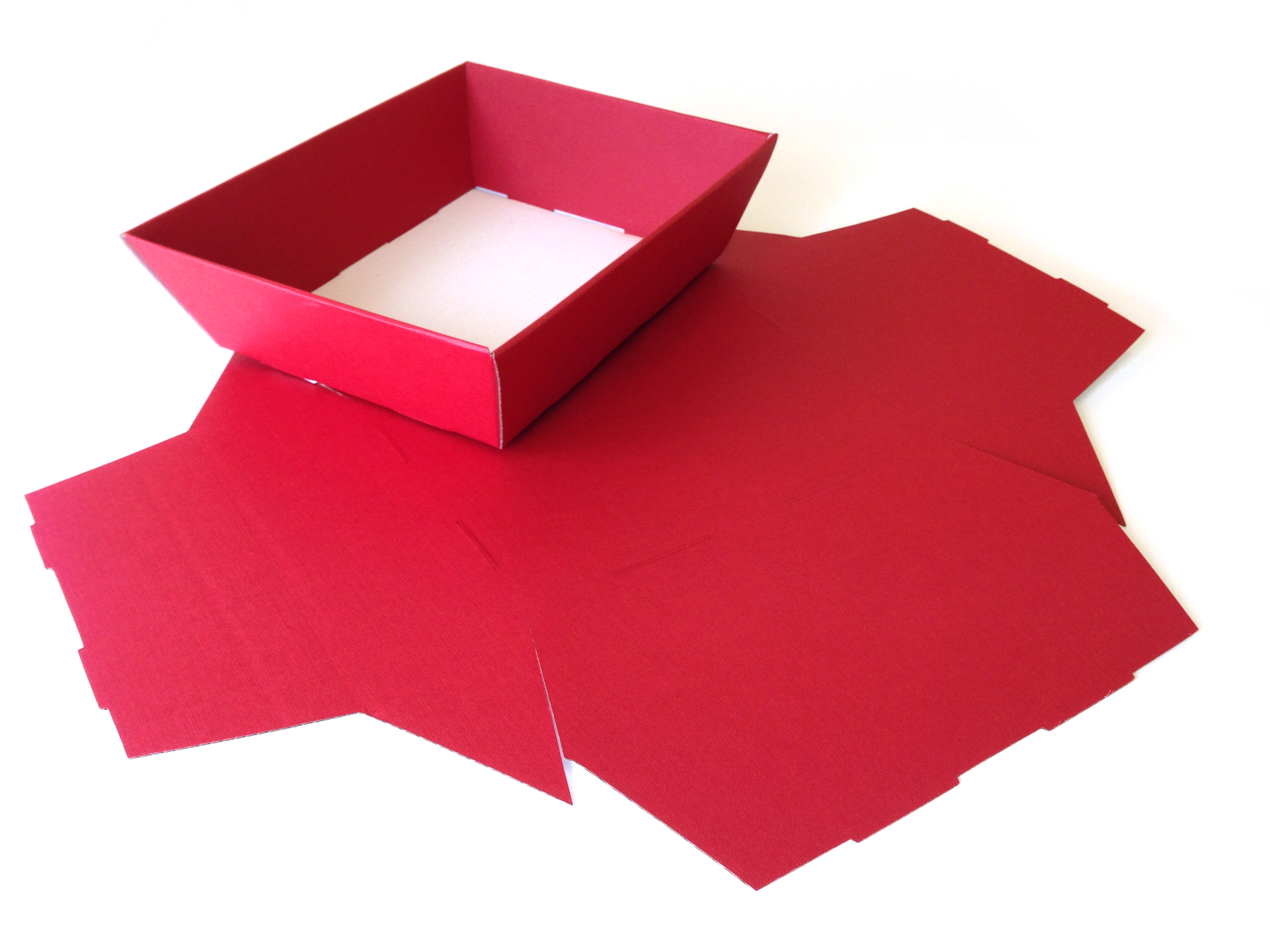Red Medium sized Fold-up Hamper Tray - perfect for Christmas or a pre-Christmas product focused giftset promotion